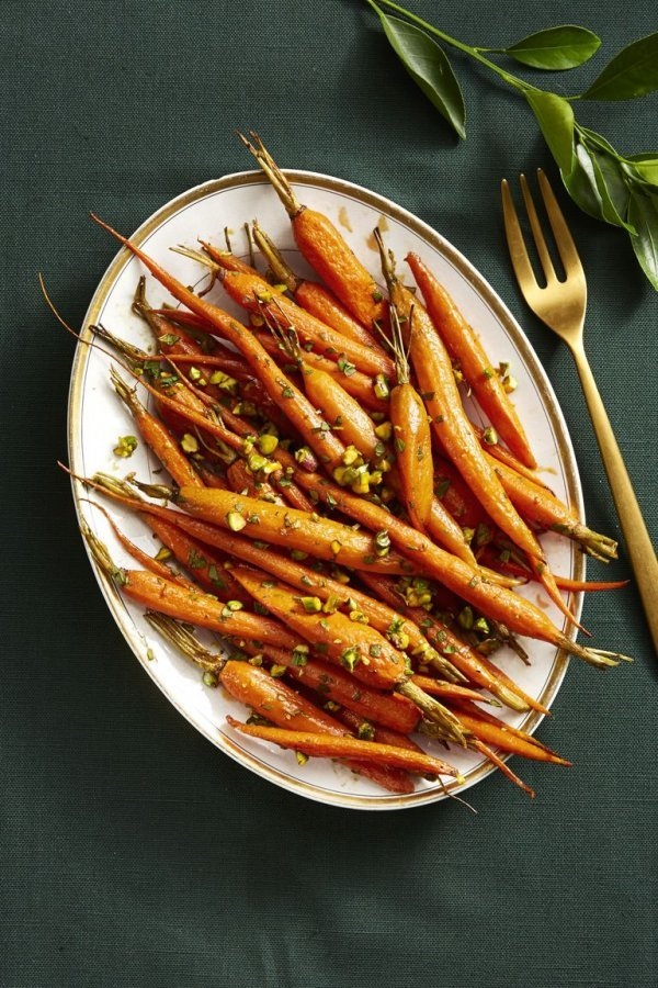 Spice roasted carrots.
