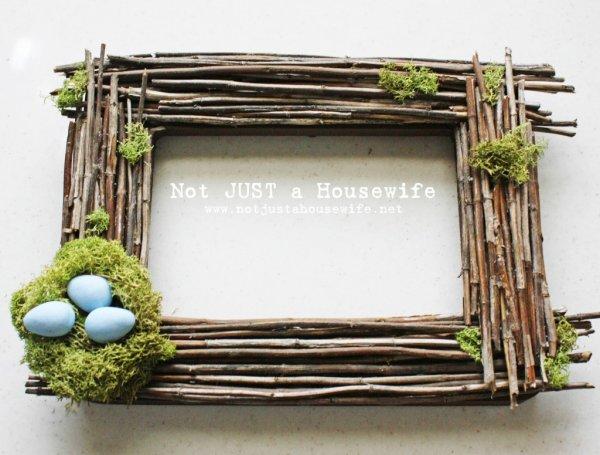 Ultimate egg nest photo frame for Easter.