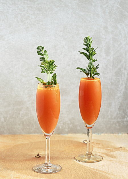 Yummy carrot mimosas.