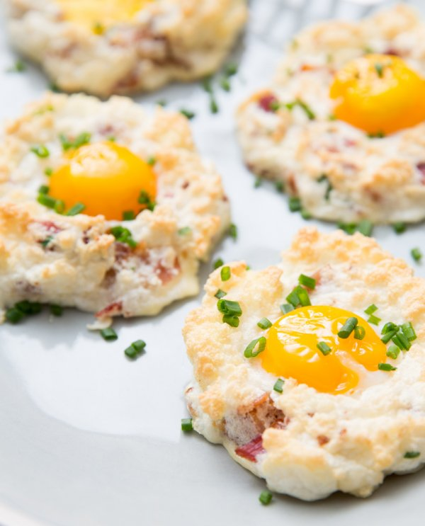 Yummy eggs on clouds.