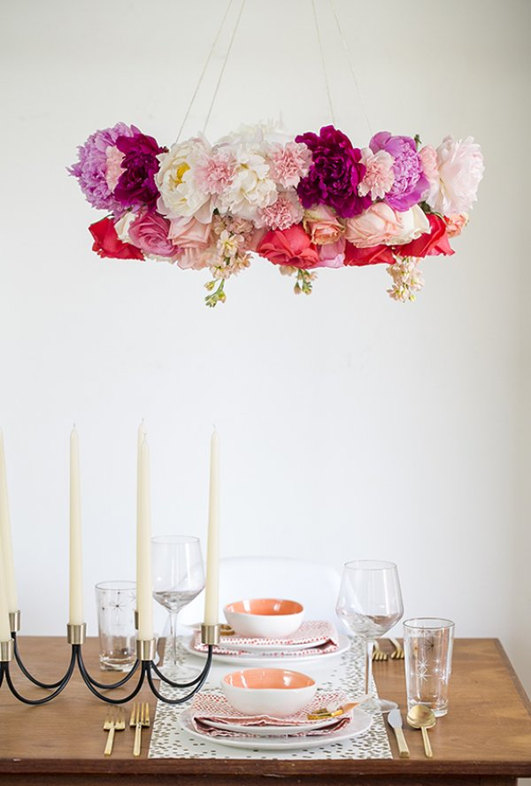 Awesome floral chandelier.