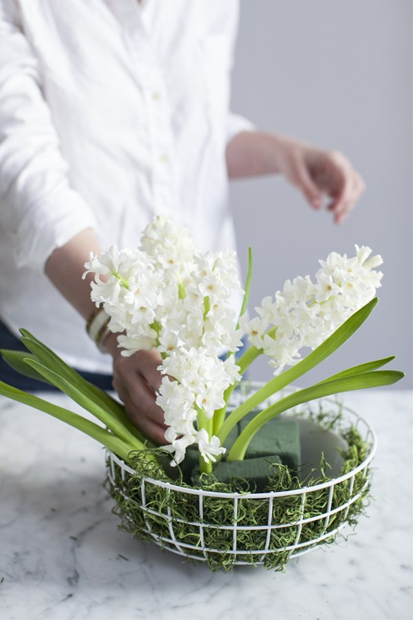Charming floral Easter centerpiece.