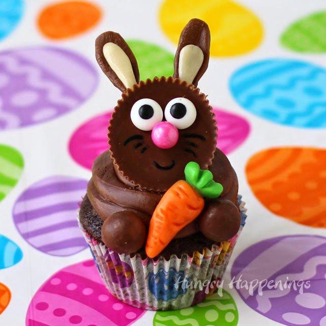 Chocolaty Easter bunny cupcake.