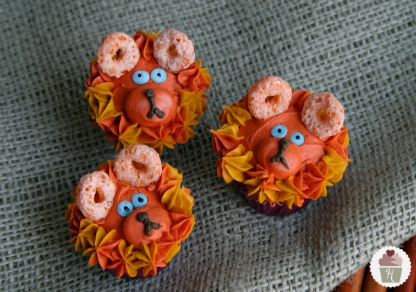 Lion Easter cupcakes for kids.