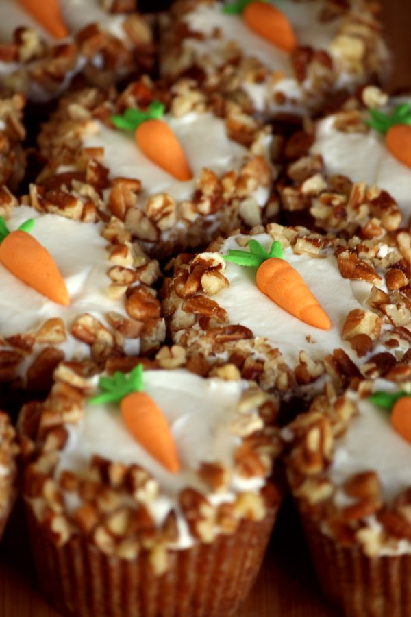 Simple carrot cupcakes.