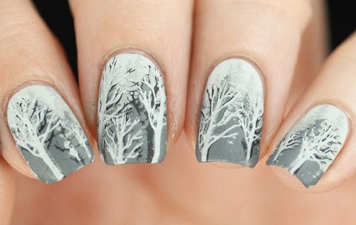Adorable winter nails.
