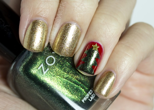 Charming one nail Christmas tree.