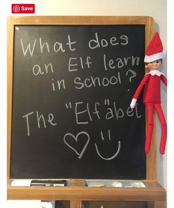 Elf on shelf in school.