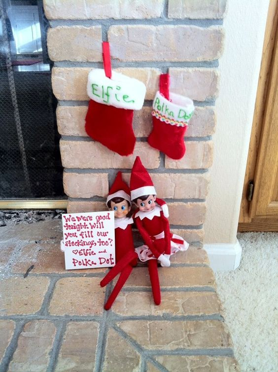 Elf on the shelf message for kids.
