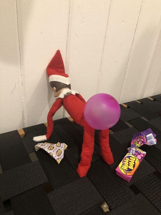 Fantastic elf on shelf fun idea for kids.