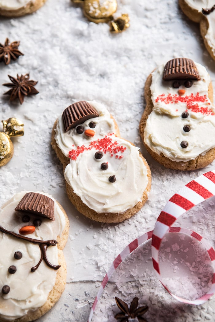 Frosted snicker doodle snowmen.