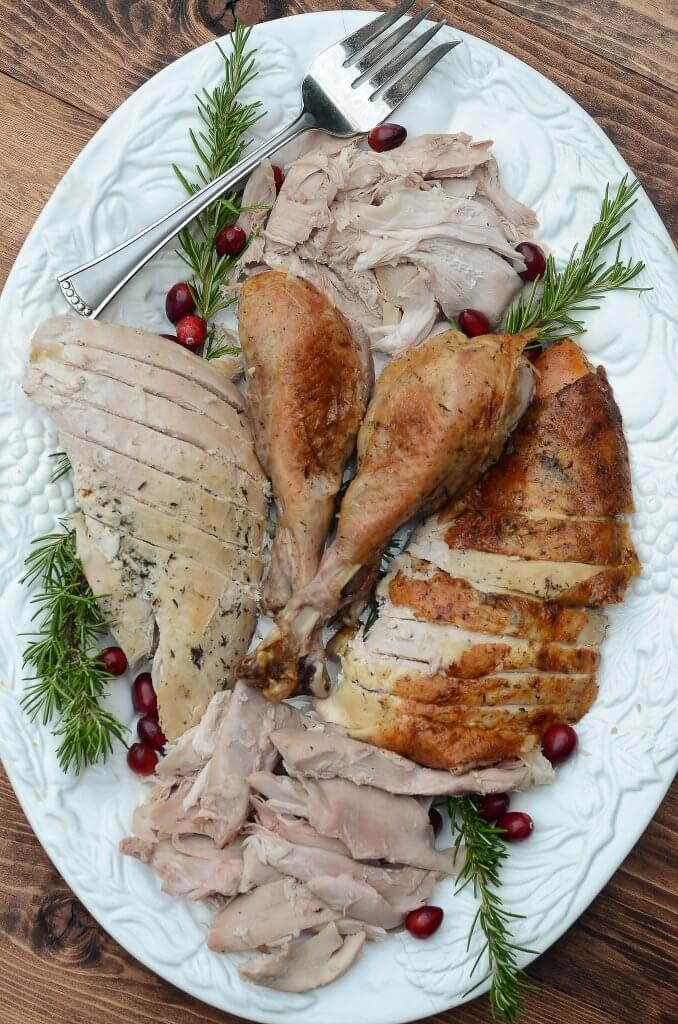Herb roasted turkey.
