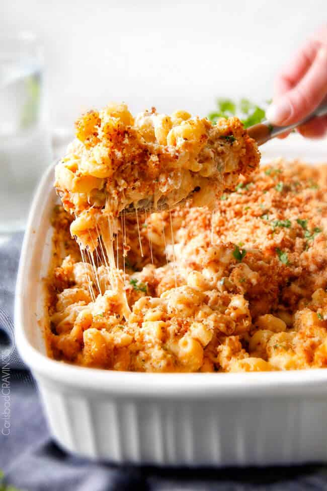 Macaroni and cheese casserole recipe.