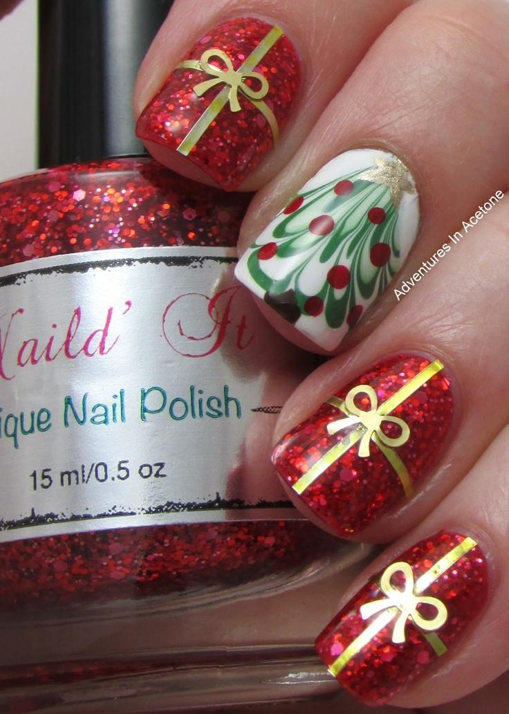 Marvelous Christmas party nails.Marvelous Christmas party nails.