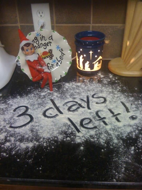 Message with flour.