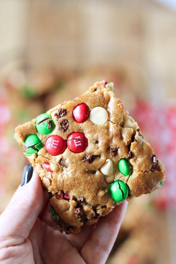 Popular M & M Christmas cookies.