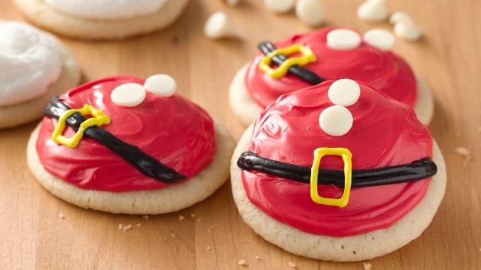 Santa belly cookies.