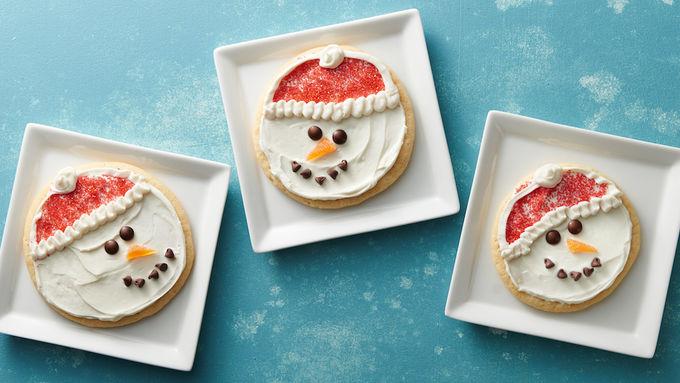 Santa hat cookies.