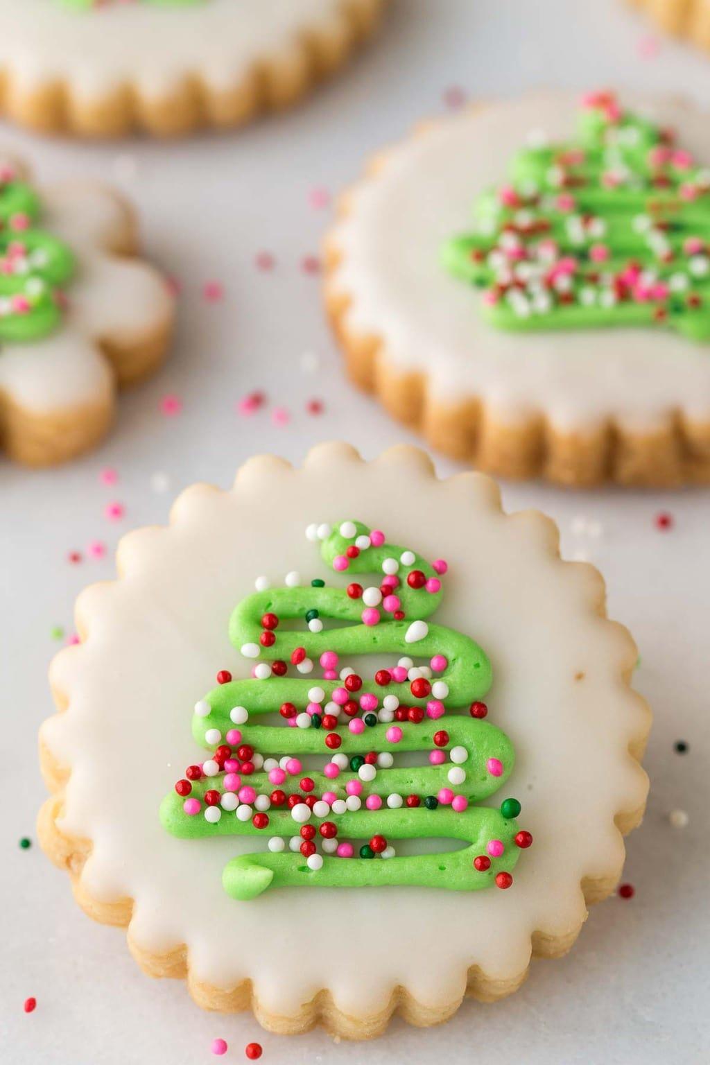 Short bread Christmas cookies.
