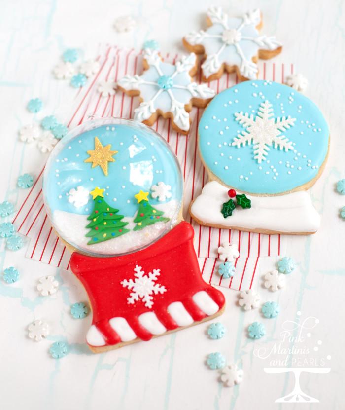 Snow globe sugar cookies.