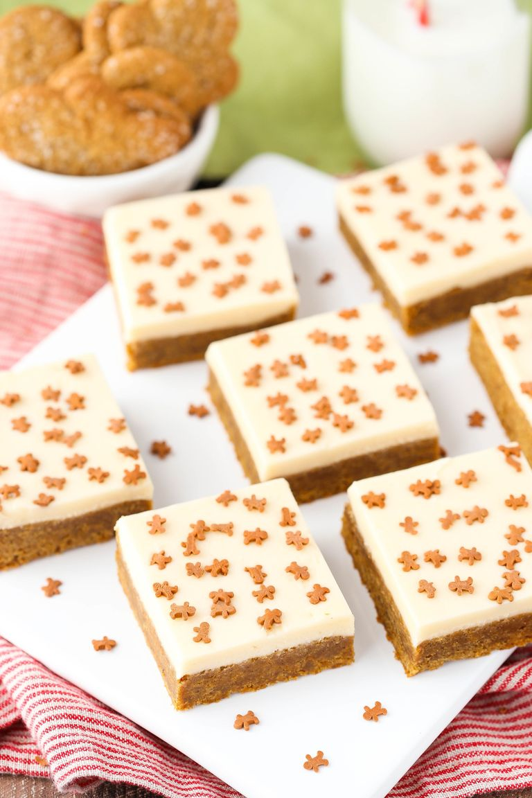 Traditional caramel gingerbread cookie bars.