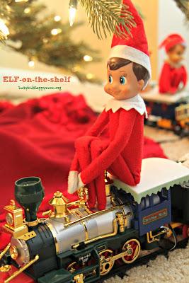 Train Conductor Elf on the shelf.