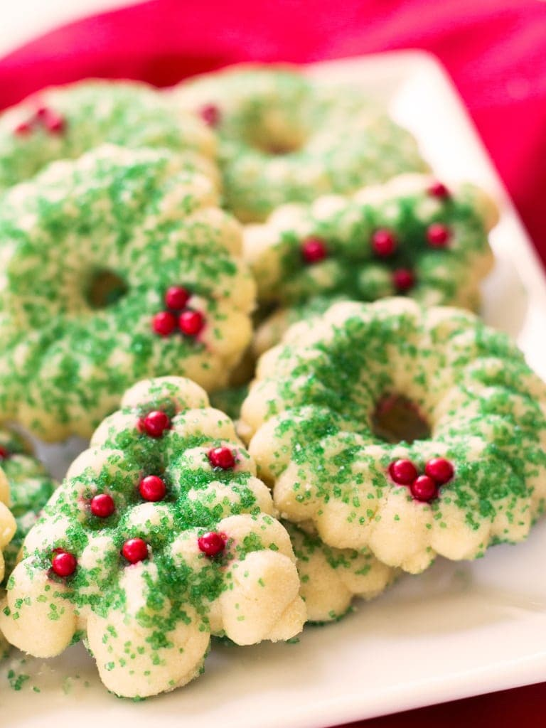 Tree style butter spritz cookies.
