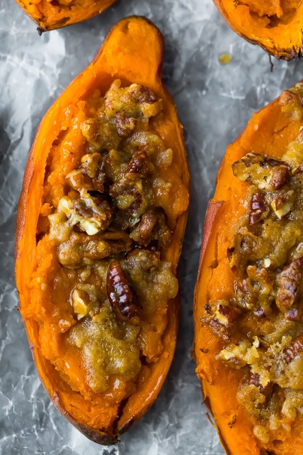 Twice baked sweet potato casserole.