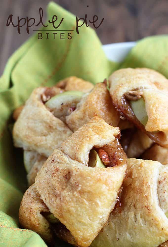 Apple pie bites.