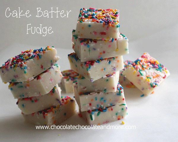 Cake batter fudge.