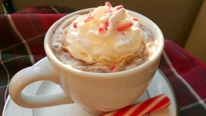 Candy cane cocoa.