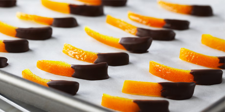 Chocolate dipped orange peel.