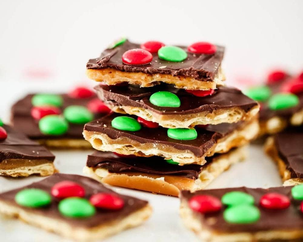 Christmas crack toffee.