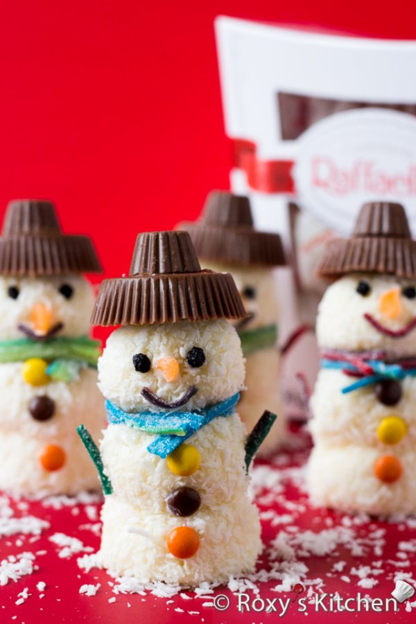 Coconut candy snowman.
