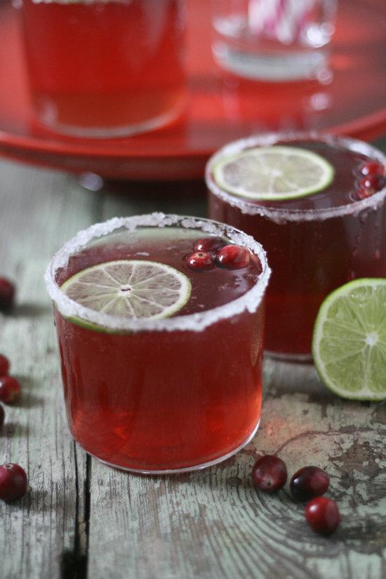 Cranberry lime sparkler.