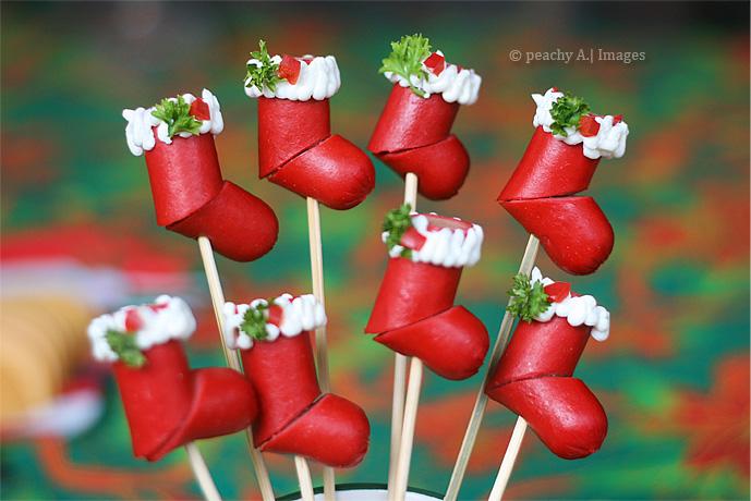Cute ho ho ho hotdog christmas stockings.