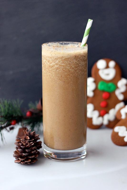 Gluten free gingerbread smoothie.