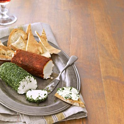 Goat cheese logs.