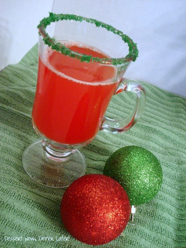 Holiday punch for Christmas party.