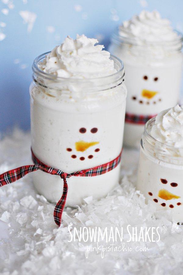 Holiday snowman shakes.