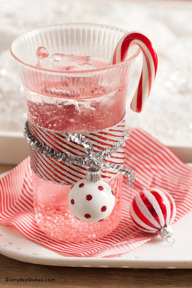 Homemade pomegranate sparkling mocktail.