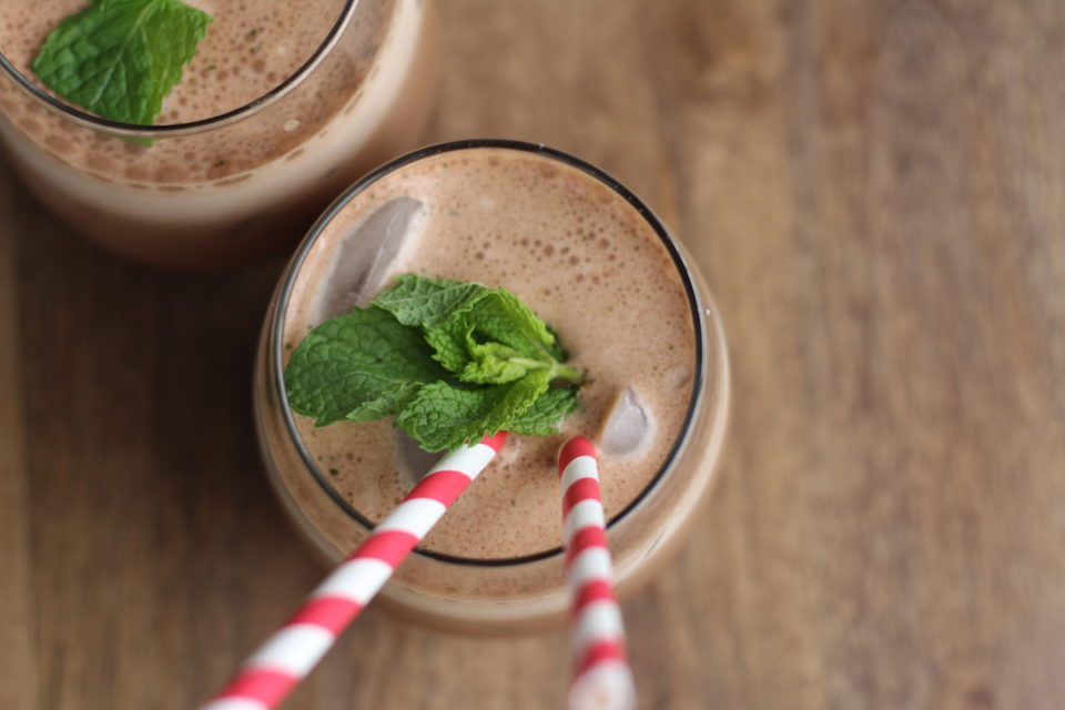 Iced mint protein mochas.