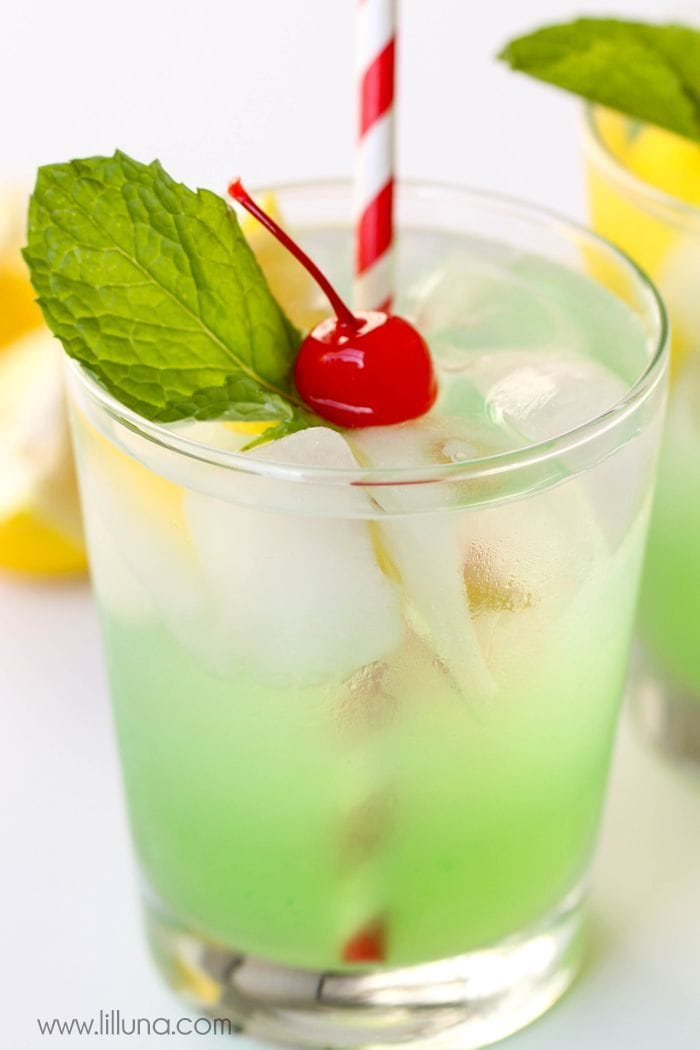 Mouth watering mint julep.