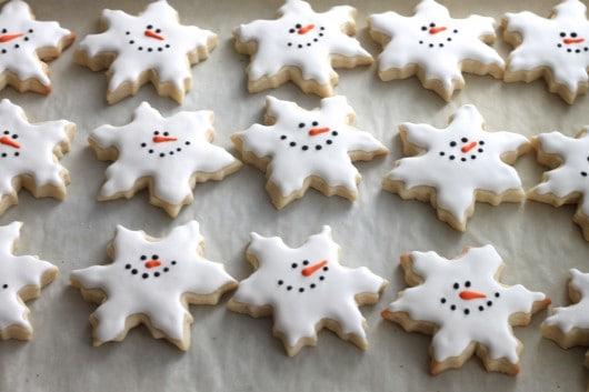 Nice snowmen snowflake cookies.