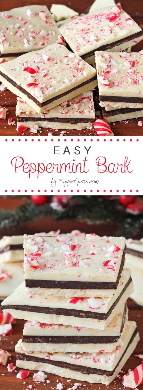 Peppermint bark are perfect holiday treats.