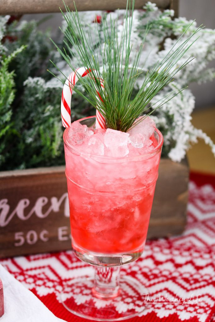 Peppermint julep for Christmas.