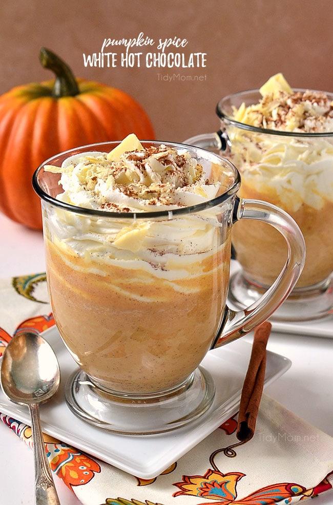 Pumpkin spice white hot chocolate.