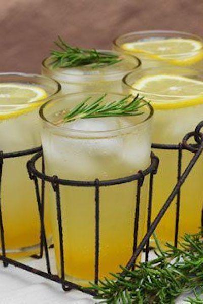 Refreshing rosemarry citrus spritzer.