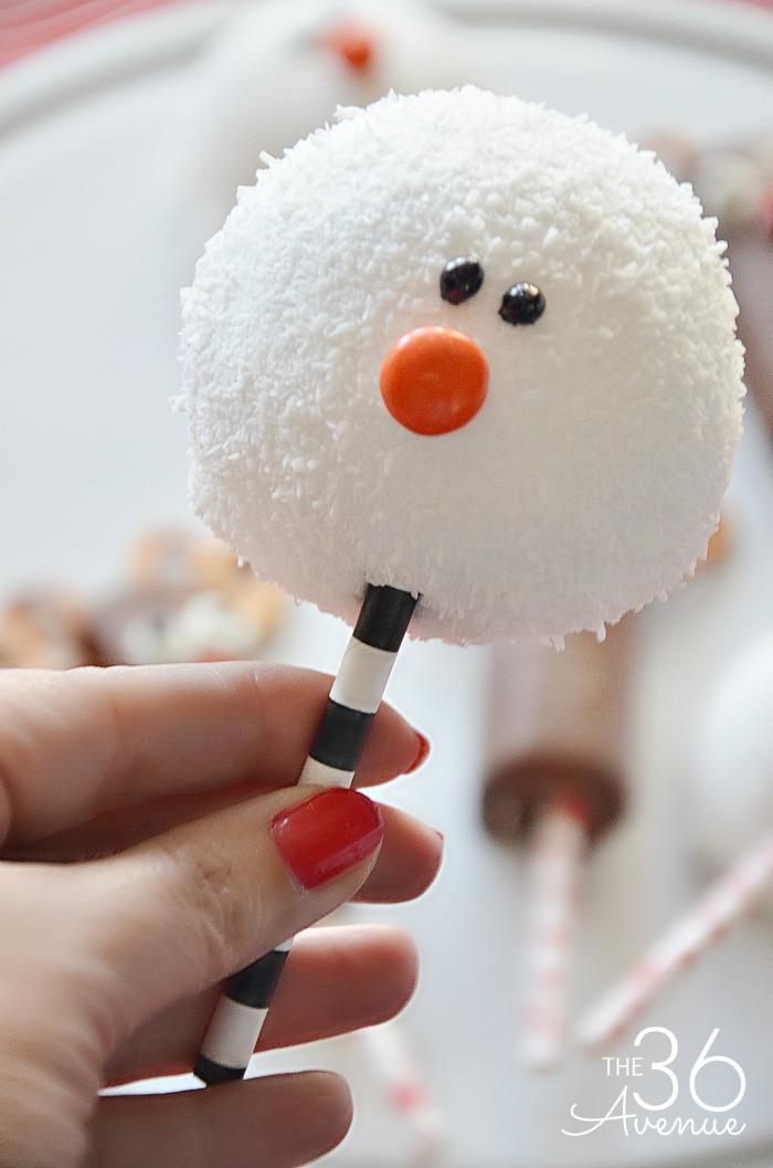 Snow ball snowman.