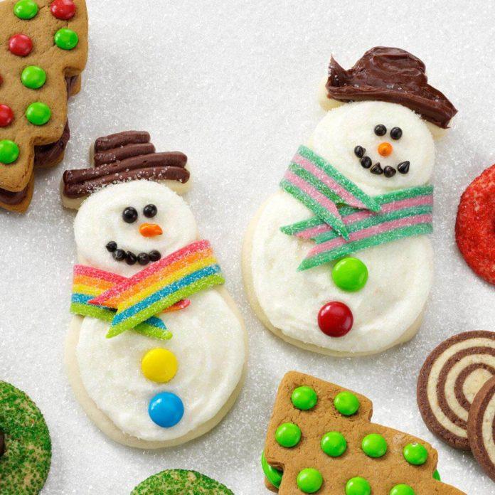 Snowman butter cutouts.
